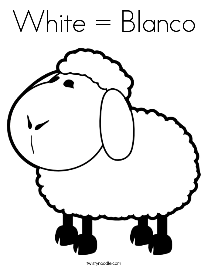 White = Blanco Coloring Page