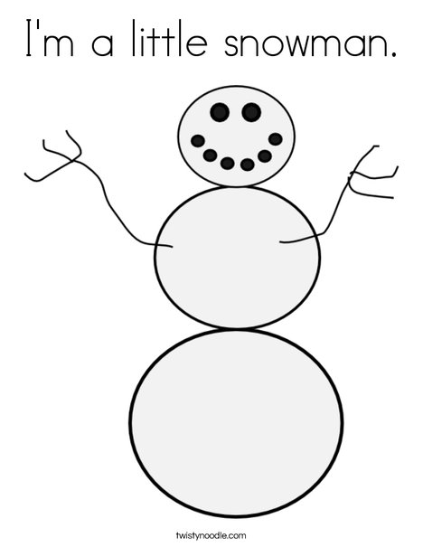 White Snowman Coloring Page