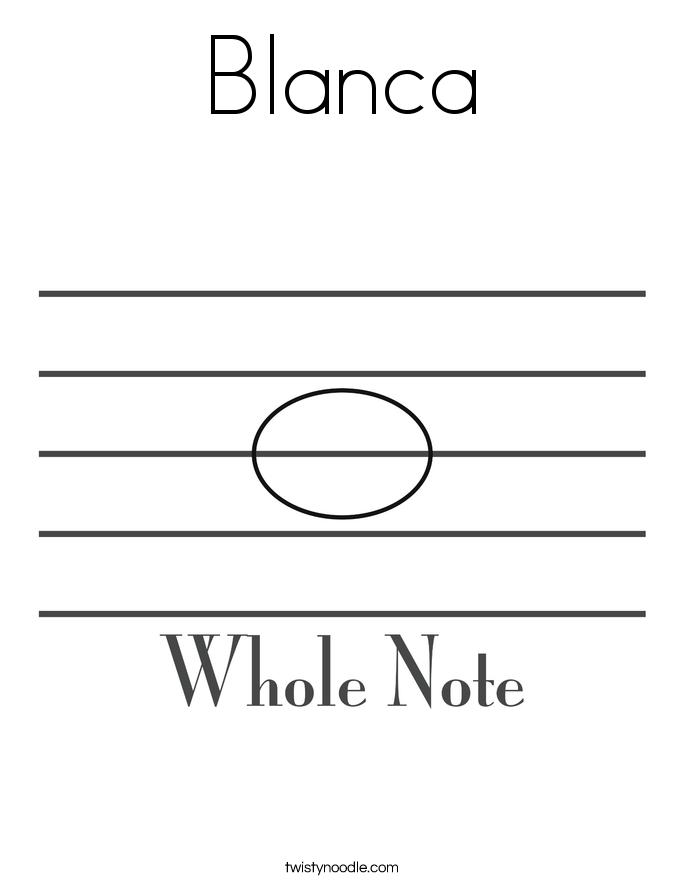 Blanca Coloring Page