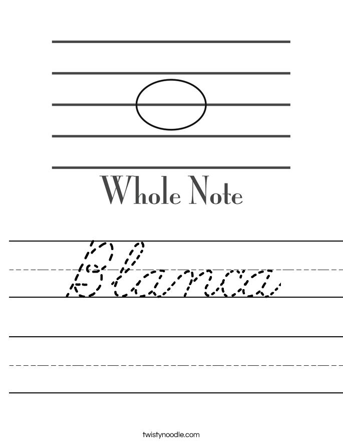 Blanca Worksheet
