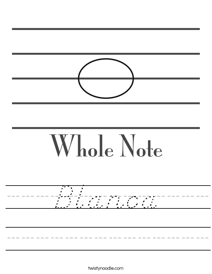 Blanca Worksheet