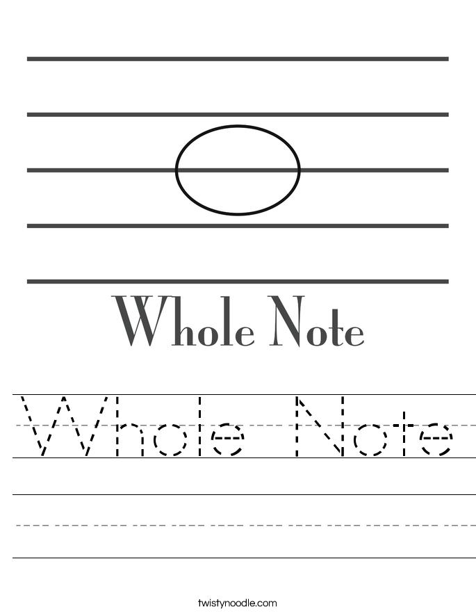 whole note worksheet twisty noodle. Black Bedroom Furniture Sets. Home Design Ideas