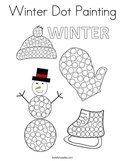 Winter Dot Painting Coloring Page