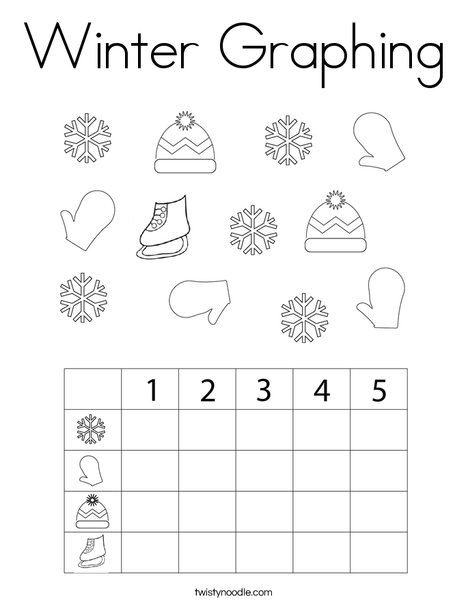 Winter Graphing Coloring Page