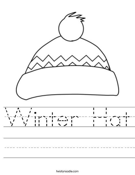 Winter Hat Worksheet - Twisty Noodle 4e29ce13421