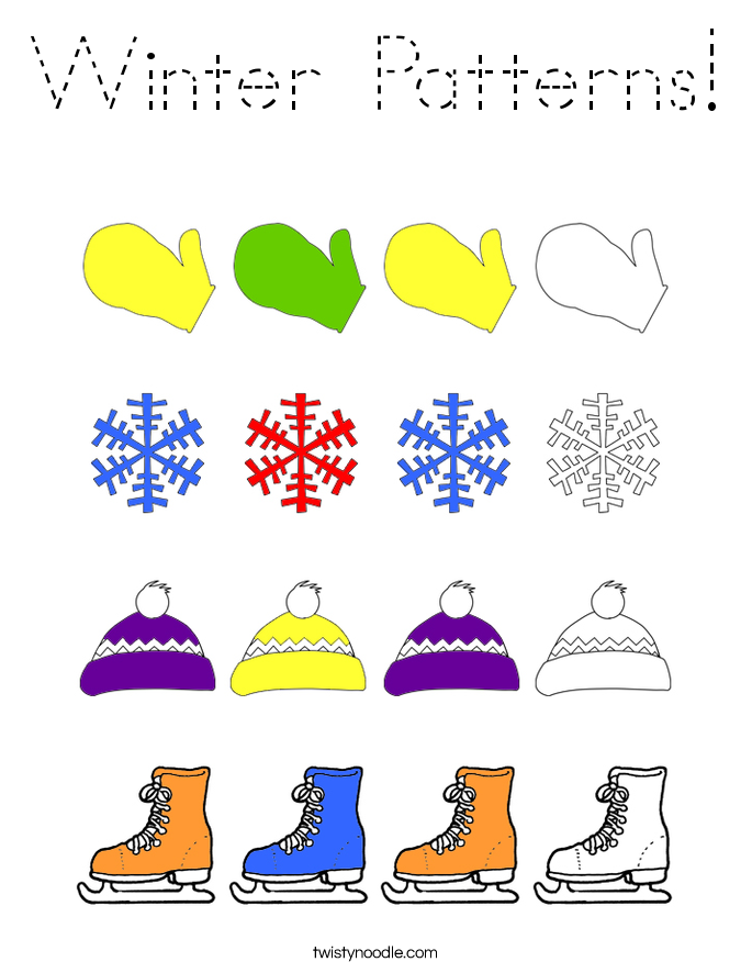Winter Patterns! Coloring Page