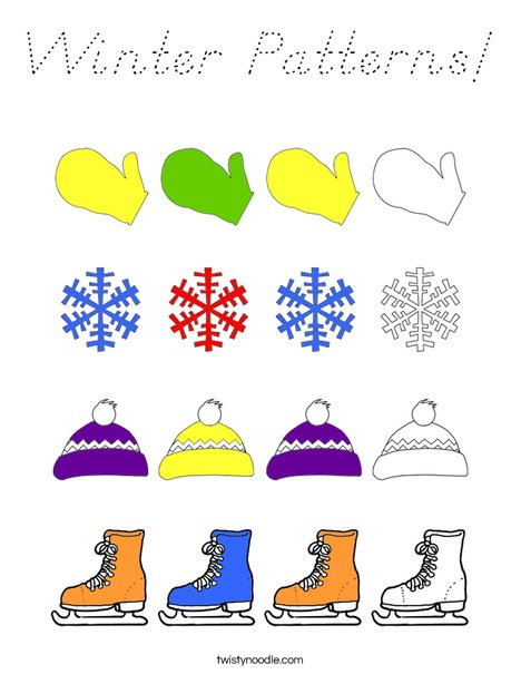 Winter Pattern Coloring Page