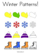 Winter Patterns Coloring Page