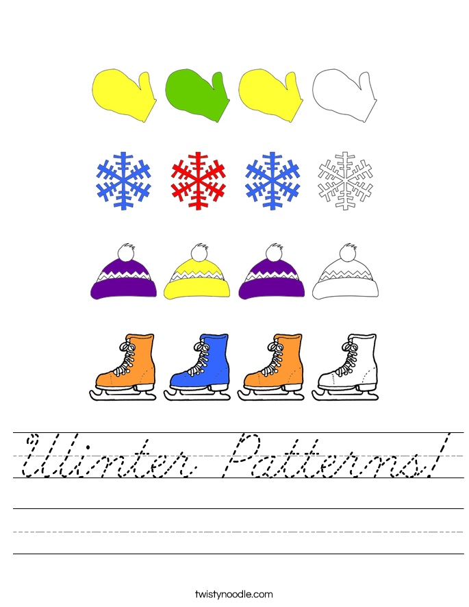 Winter Patterns! Worksheet