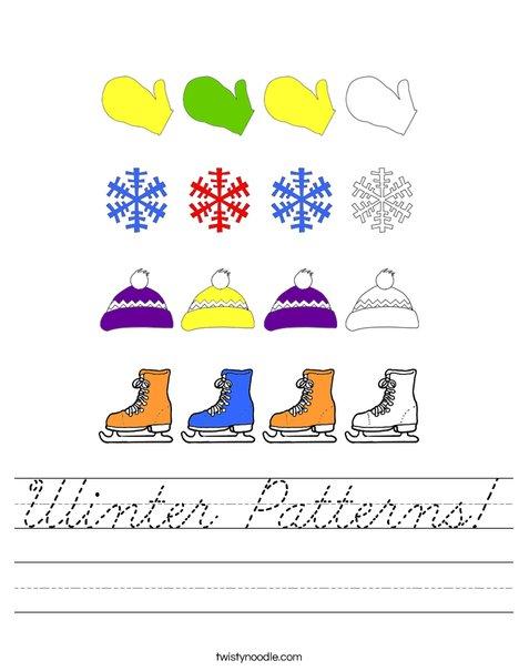 Winter Pattern Worksheet
