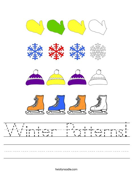 Winter Pattern Worksheet
