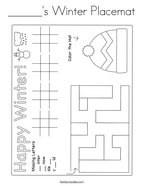 ______'s Winter Placemat Coloring Page