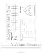 ______'s Winter Placemat Handwriting Sheet