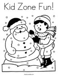 Kid Zone Fun! Coloring Page