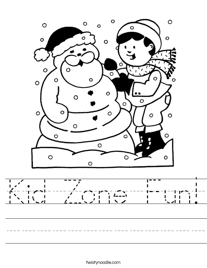 Kid Zone Fun! Worksheet