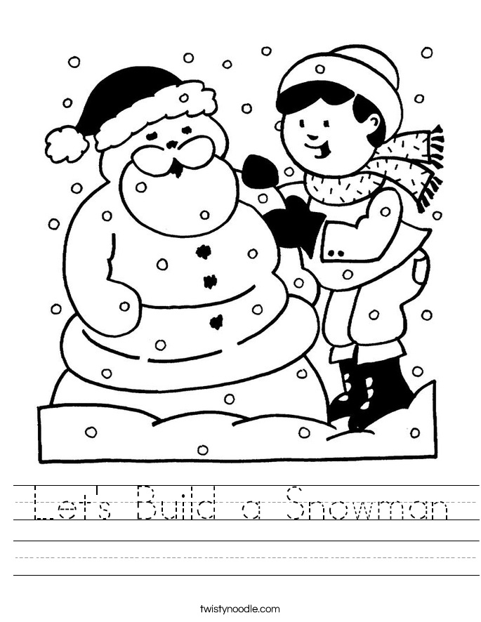 Let's Build a Snowman Worksheet