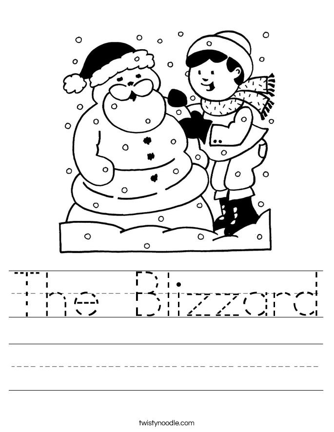 The Blizzard Worksheet