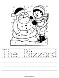 The Blizzard Worksheet