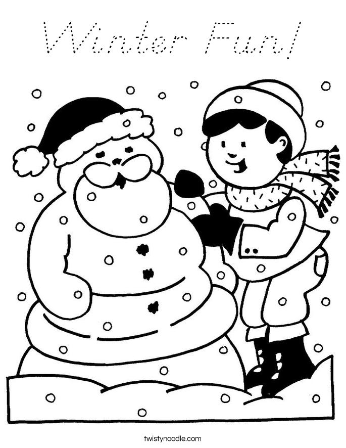 Winter Fun! Coloring Page
