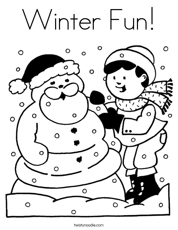 Winter Fun! Coloring Page