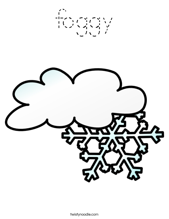 foggy Coloring Page