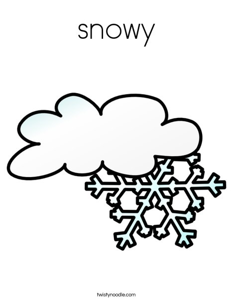 snowy Coloring Page - Twisty Noodle
