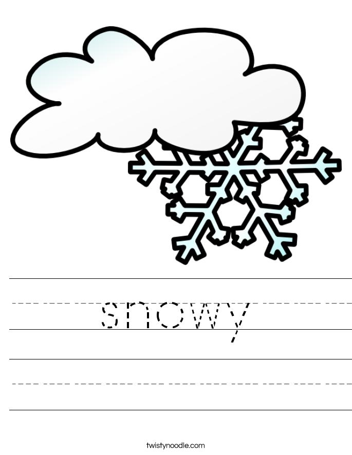 snowy Worksheet