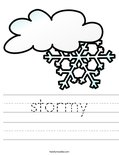stormy Worksheet