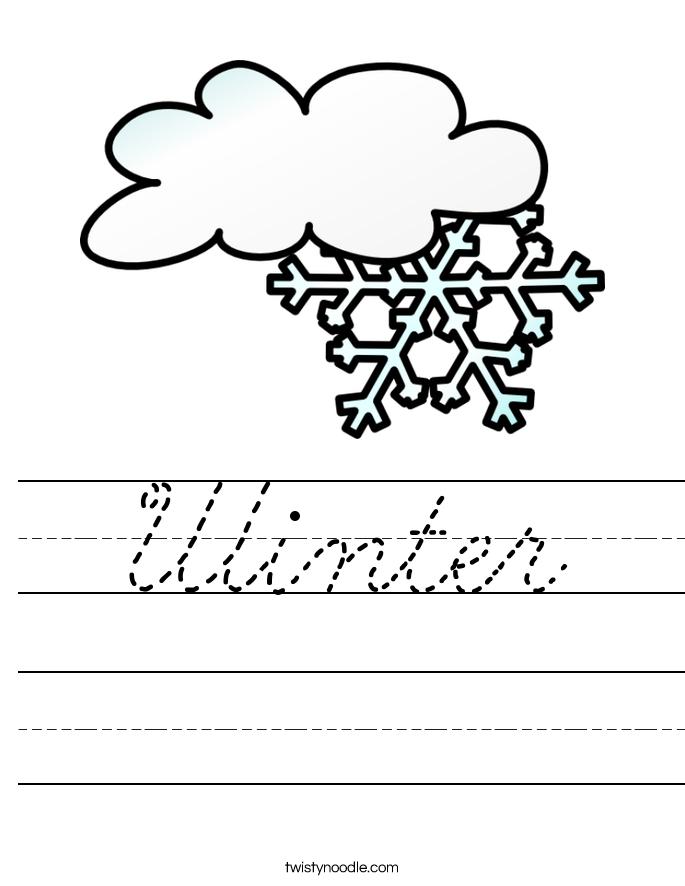 Winter Worksheet