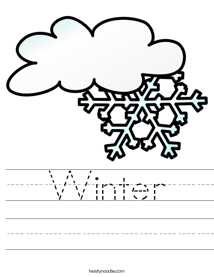 Winter Worksheet - Twisty Noodle