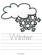 Winter Handwriting Sheet
