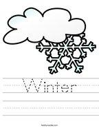 Winter Handwriting Sheet