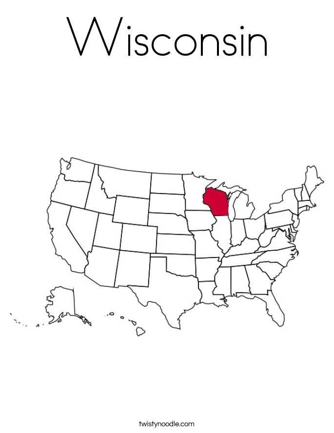 Wisconsin Coloring Page