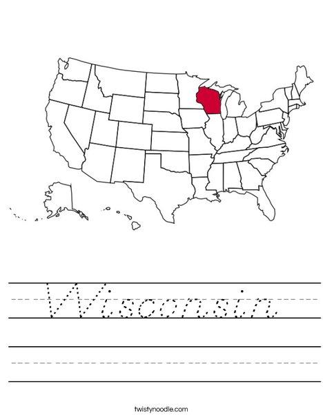 Wisconsin Worksheet