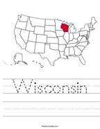 Wisconsin Handwriting Sheet