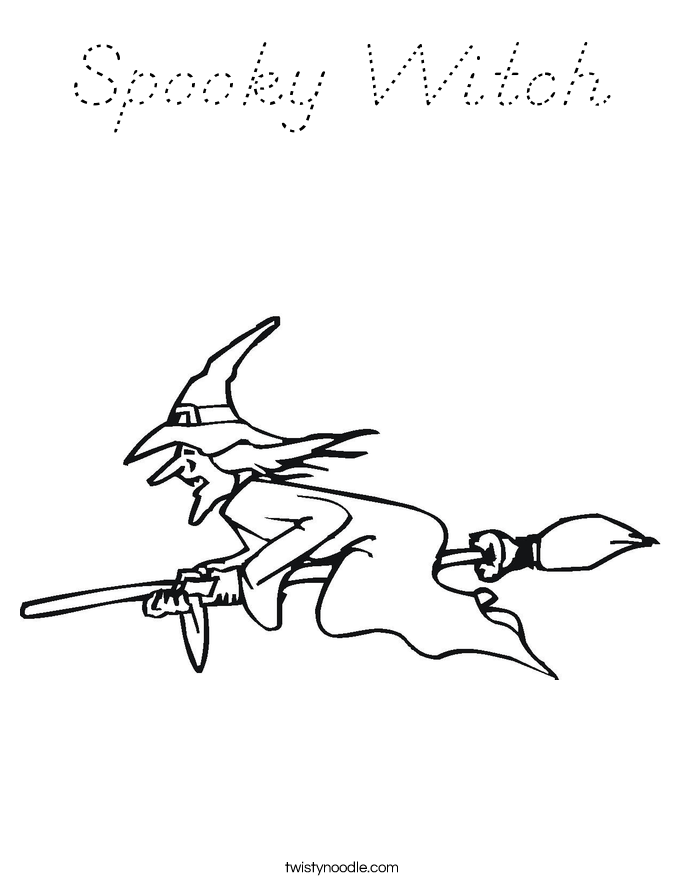 Spooky Witch Coloring Page
