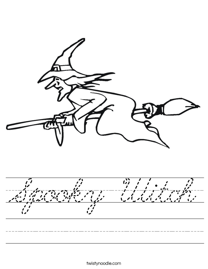 Spooky Witch Worksheet