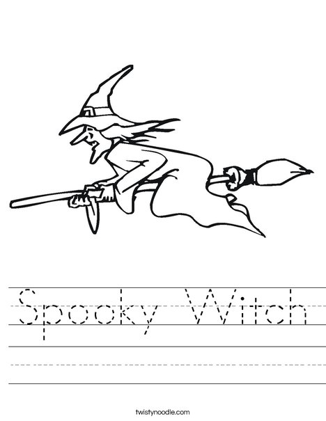 Witch Worksheet