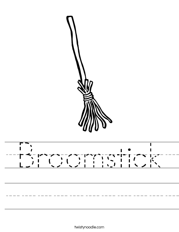 Broomstick Worksheet