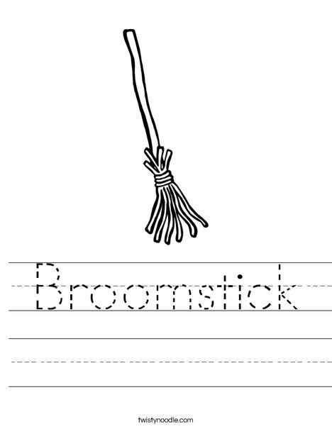 Witch's Broom Worksheet