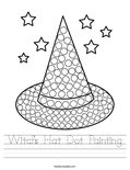 Witch's Hat Dot Painting Worksheet