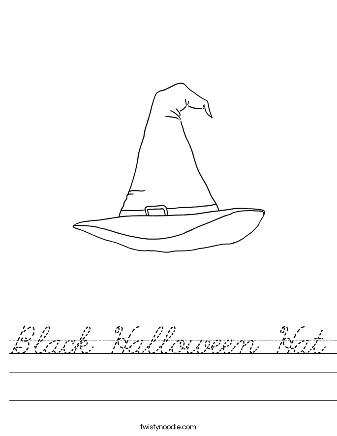Black Halloween Hat Worksheet