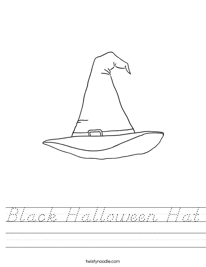 Black Halloween Hat Worksheet