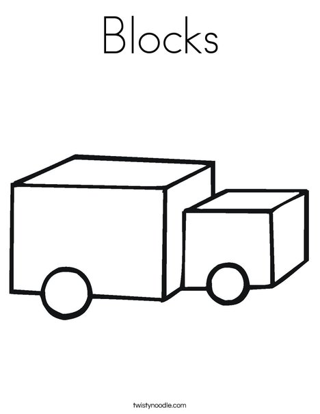 Wooden Blocks Coloring Page
