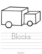 Blocks Handwriting Sheet