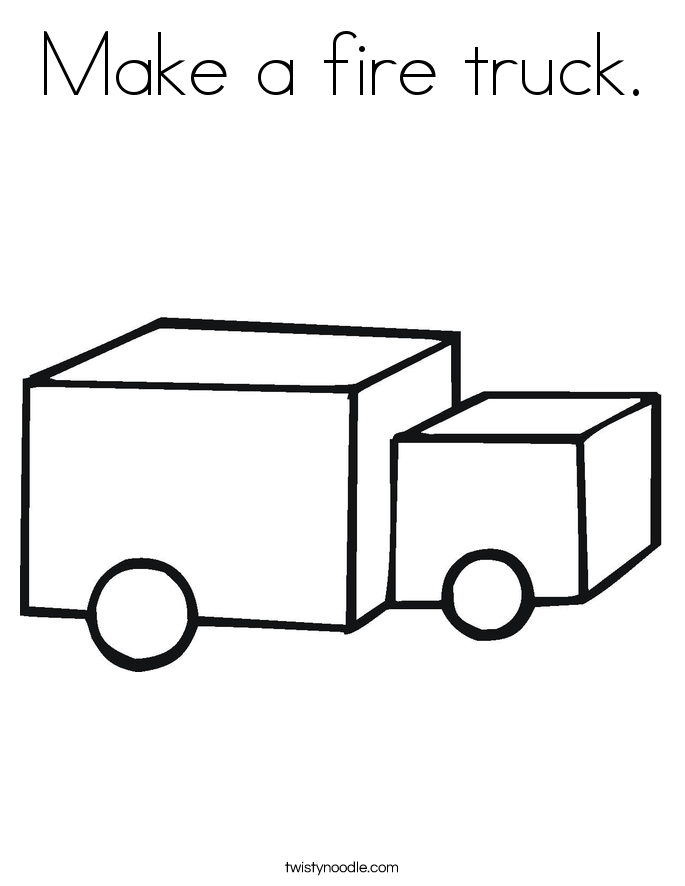 Make a fire truck. Coloring Page