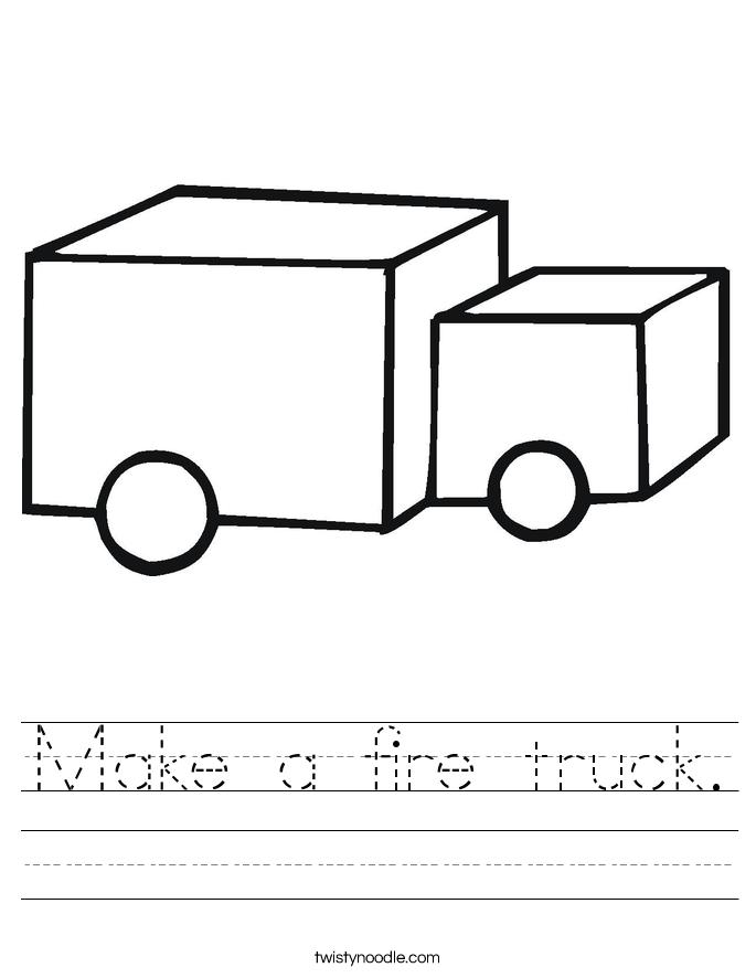 Make a fire truck. Worksheet