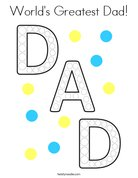 World's Greatest Dad! Coloring Page