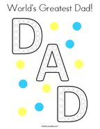 World's Greatest Dad Coloring Page
