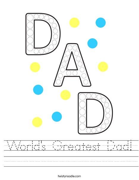 World's Greatest Dad! Worksheet
